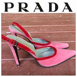 Prada Colorblock Velvet Slingbacks